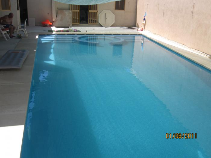 rectangular outdoor pool