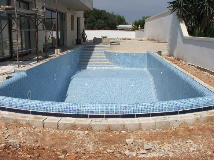 pool with raised edged