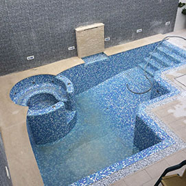 pool with mosaic