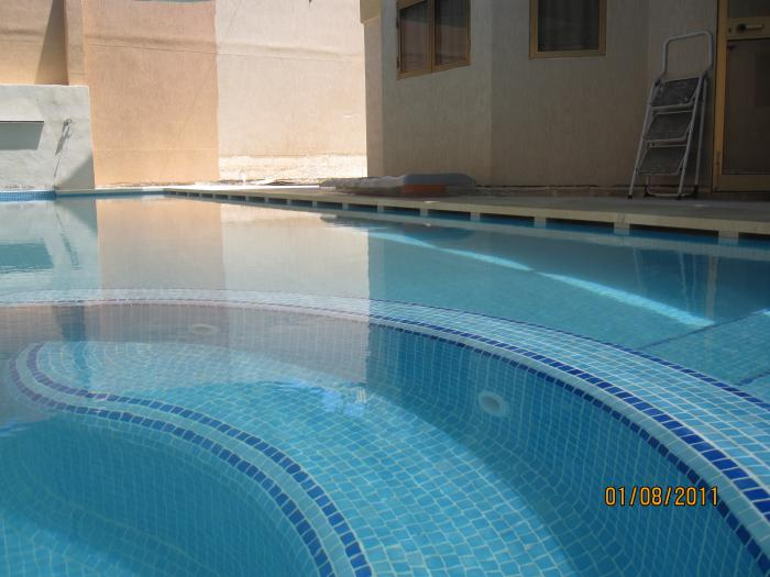 pool with submerged areas